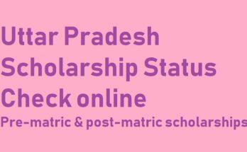 UP Scholarship Status 2020 online