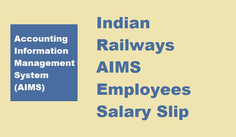 AIMS Portal Salary Pay Slip 2021