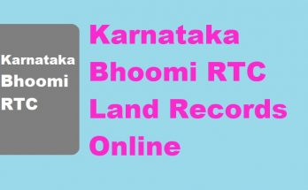 Bhoomi RTC Land Records online