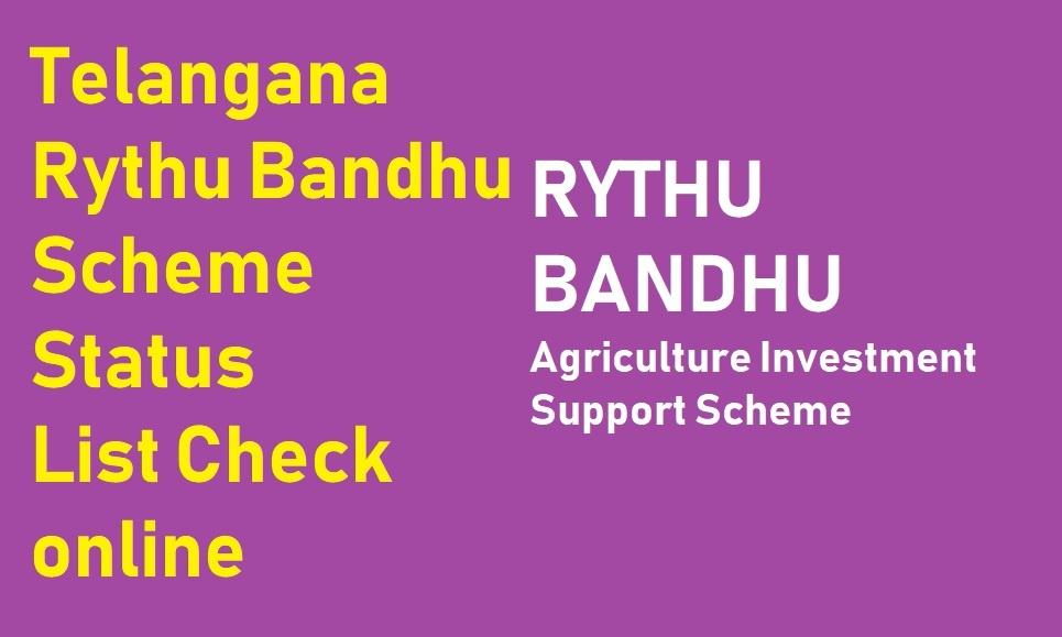 Rythu Bandhu Payment Status