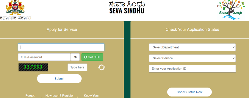 Seva Sindhu New Registration 2020