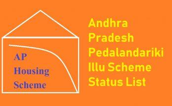 YSR Pedalandariki illu scheme list