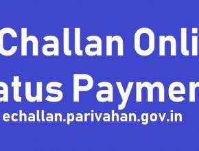 E Challan Online Status