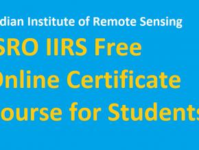 ISRO Free Online Certificate Course