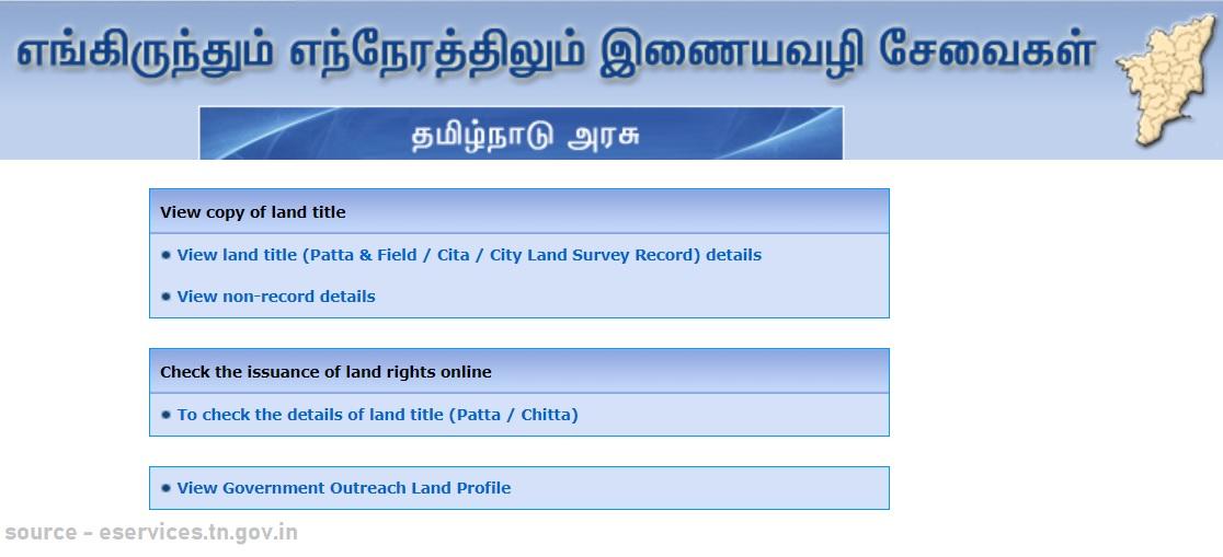 Tamil nadu land records