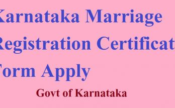 Karnataka Marriage Registration