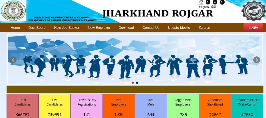 Jharkhand Rojgar Registration