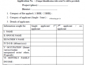 WB Housing Scheme Form 2021