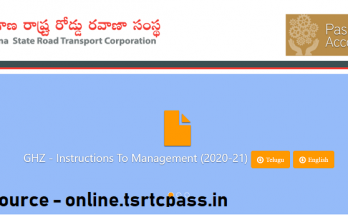 TSRTC Bus Pass Apply Fresh Renew