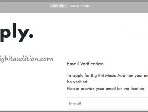 Bighit Music apply online 2021