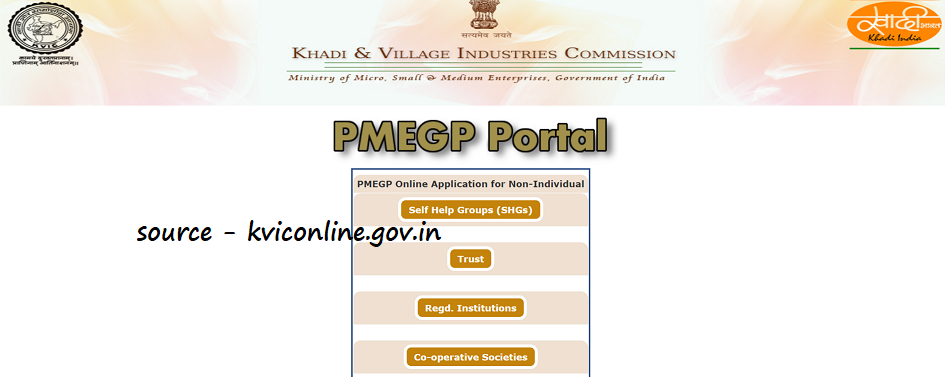 PMEGP Application Form for non-individual
