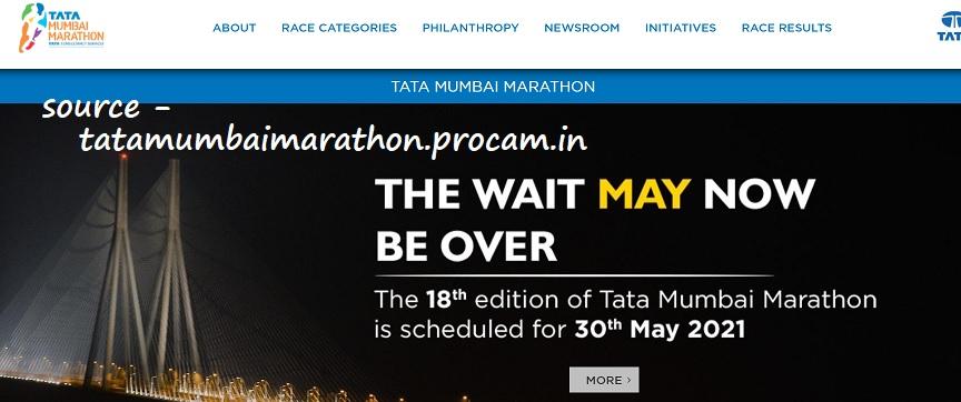 Tata Mumbai Marathon 2021 Register online